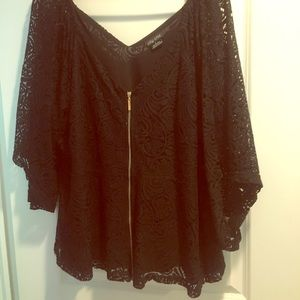 City Chic Full zip Lace Top